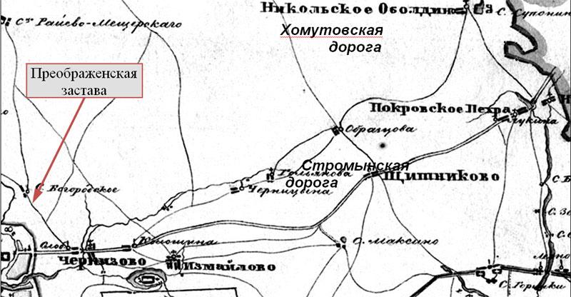 тракта в Московском уезде